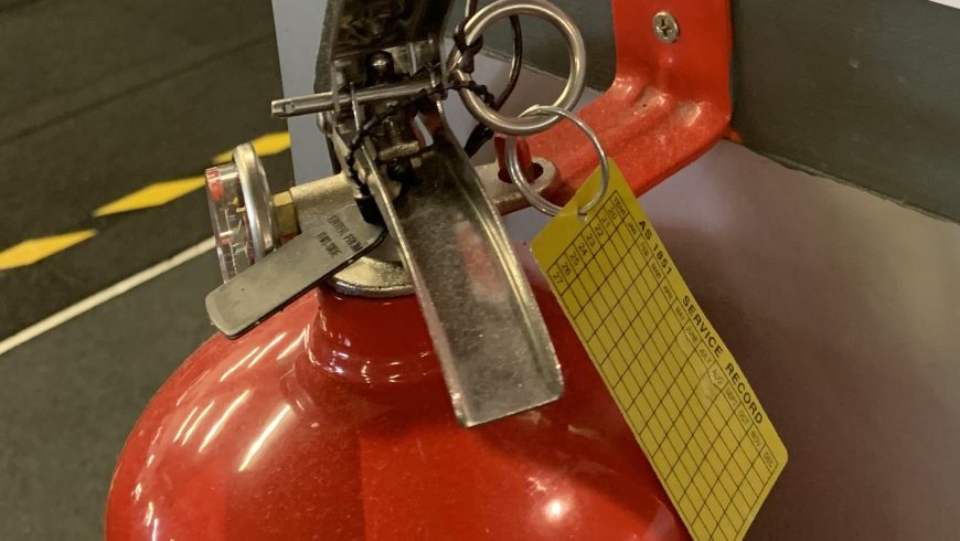 How often should fire extinguishers be inspected?